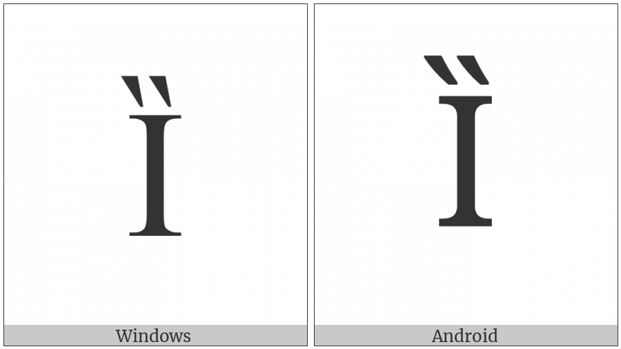 LATIN CAPITAL LETTER I WITH DOUBLE GRAVE utf-8 character