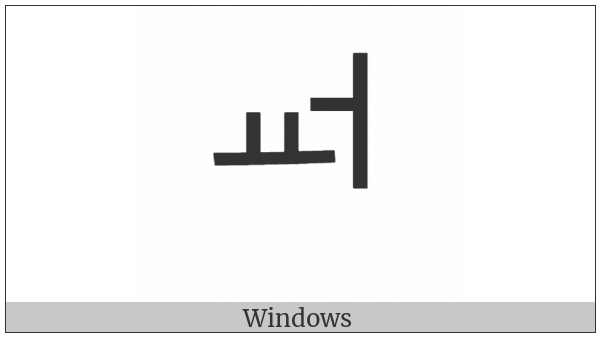 Hangul Jungseong Yo-Eo on various operating systems