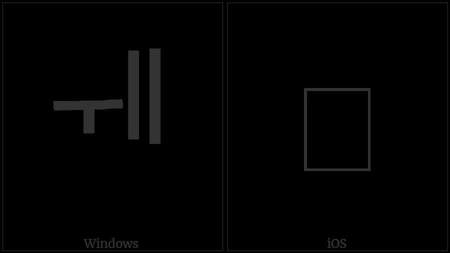 Hangul Jungseong U-I-I on various operating systems
