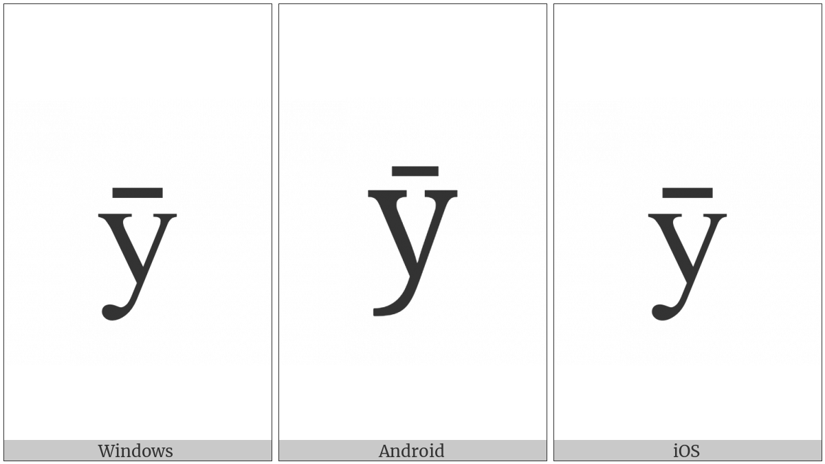 LATIN SMALL LETTER Y WITH MACRON utf-8 character