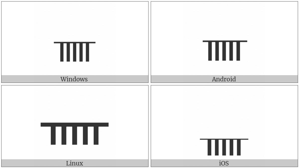 Ogham Letter Nion on various operating systems