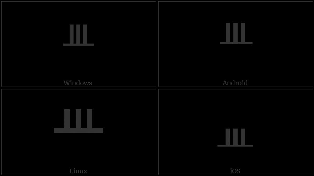 Ogham Letter Tinne on various operating systems