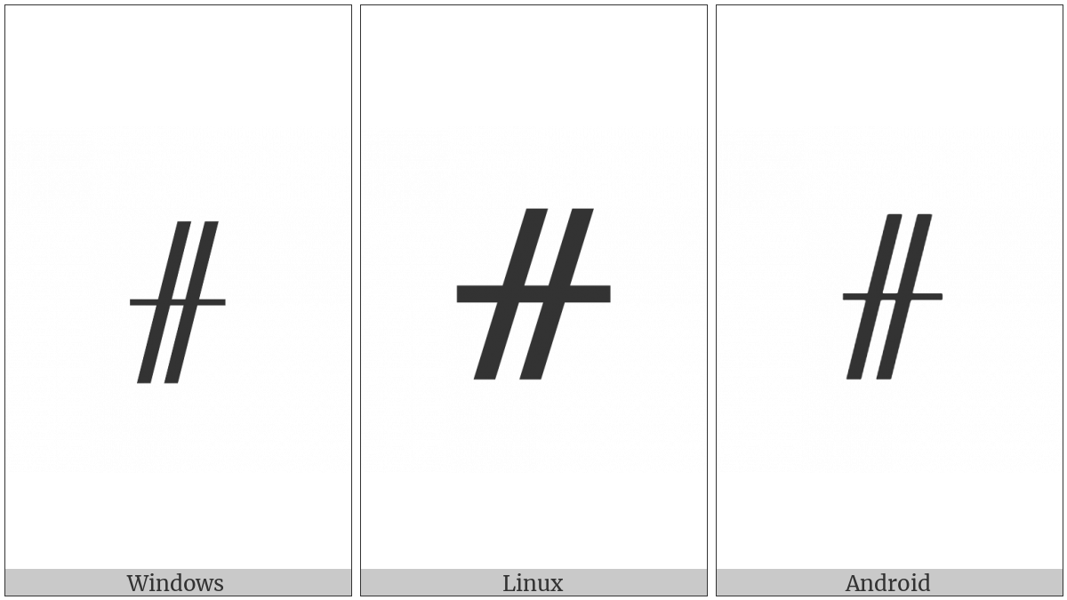Ogham Letter Gort on various operating systems