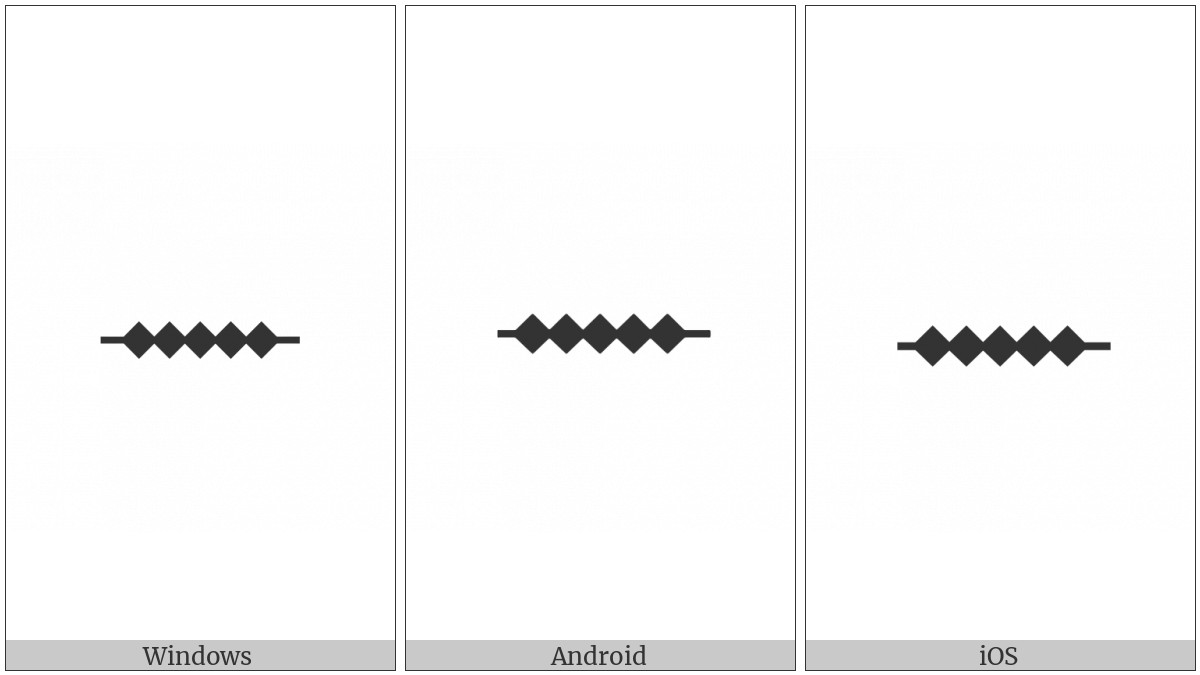 Ogham Letter Iodhadh on various operating systems