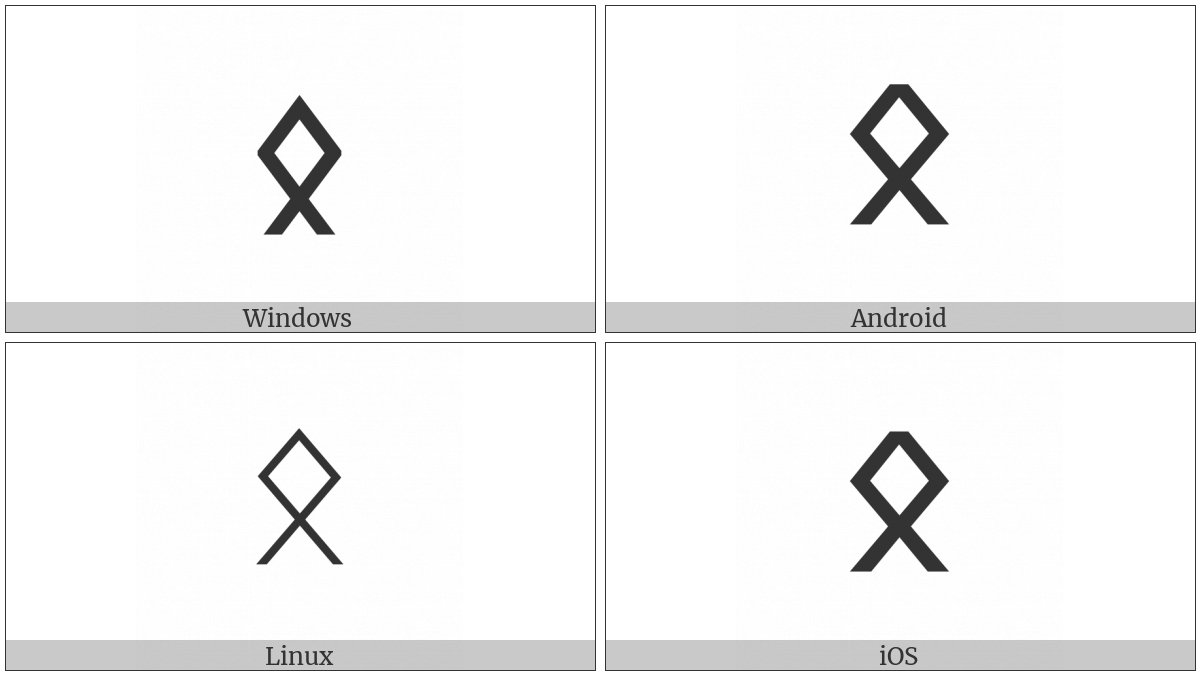 Runic Letter Othalan Ethel O on various operating systems