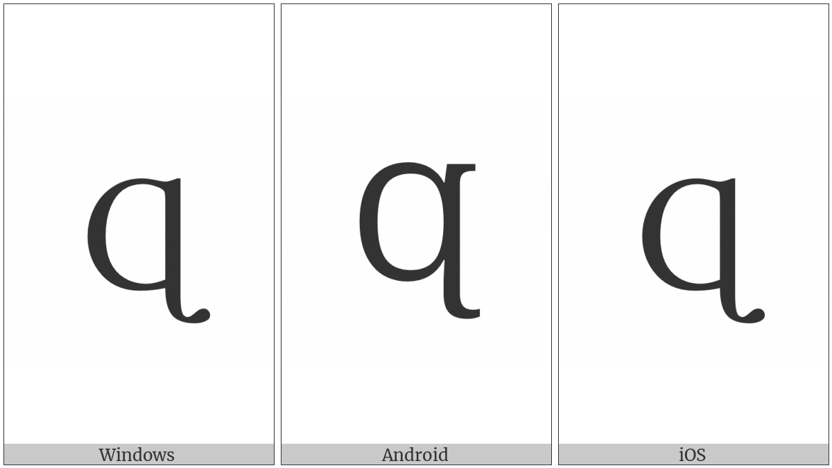 Latin Capital Letter Small Q With Hook Tail on various operating systems