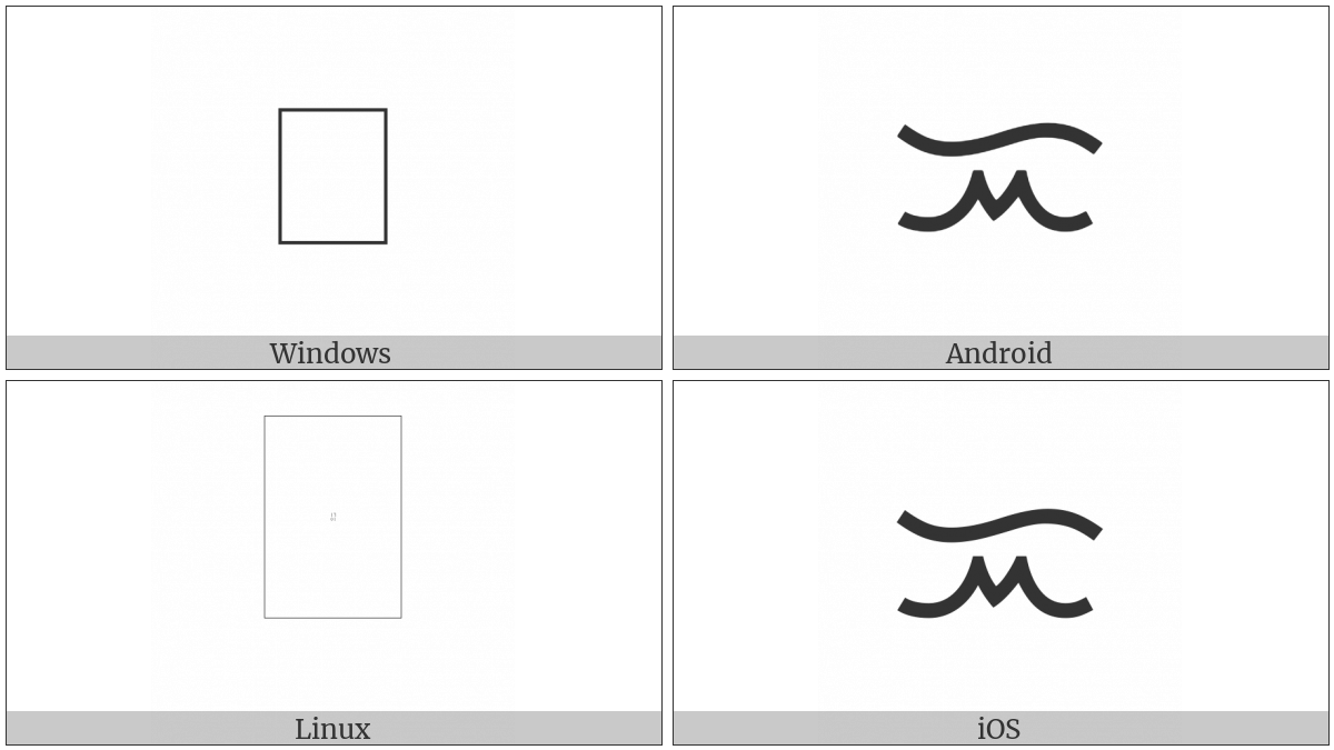 Tagalog Letter I on various operating systems