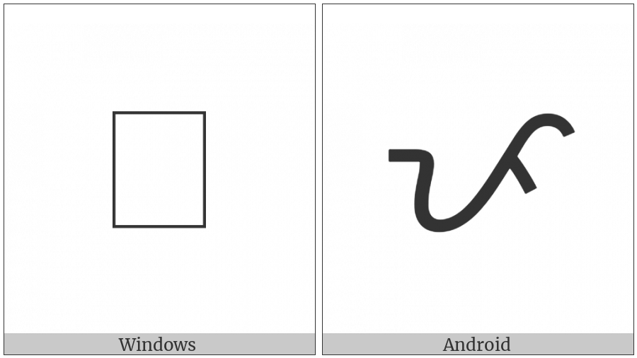 Tagalog Letter Pa on various operating systems