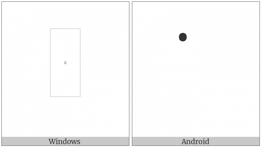 Tagalog Vowel Sign I on various operating systems