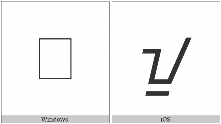 Buhid Letter I on various operating systems