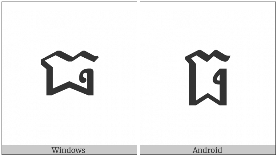 Khmer Letter Tho on various operating systems