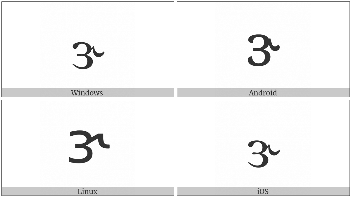 Latin Small Letter Reversed Open E With Hook on various operating systems