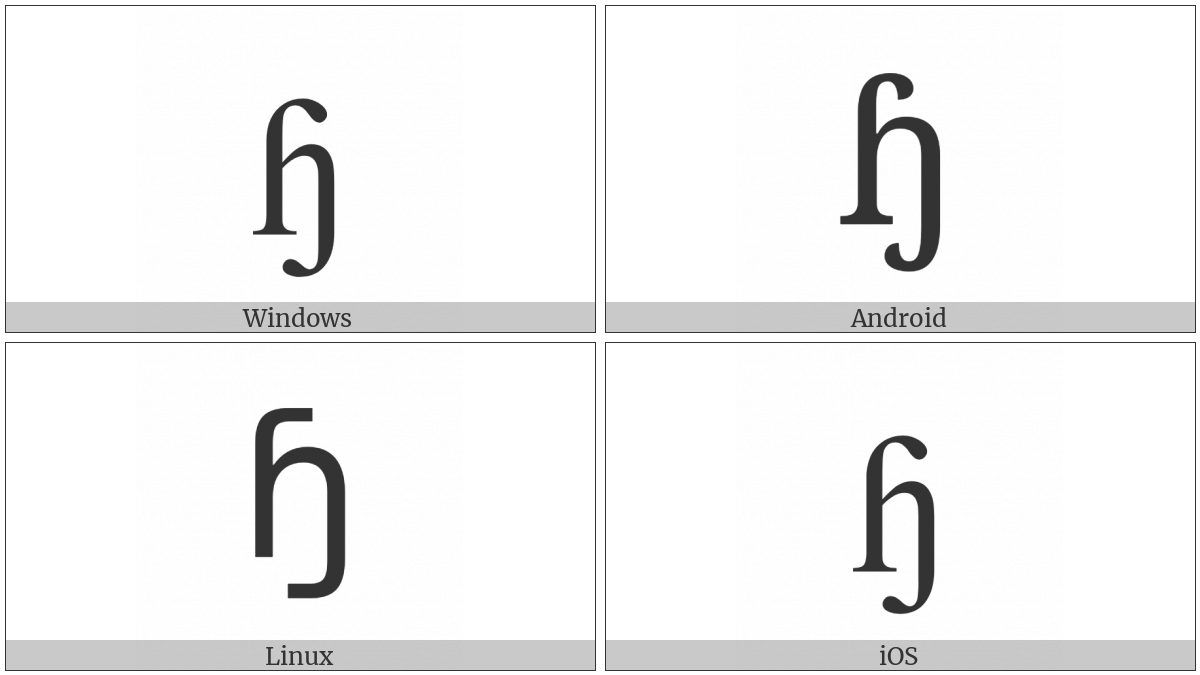 Latin Small Letter Heng With Hook on various operating systems