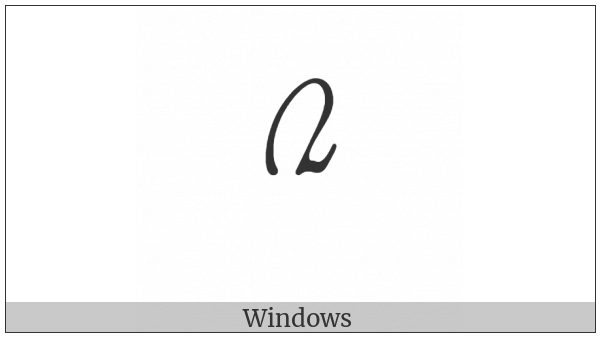 Mongolian Digit Two on various operating systems