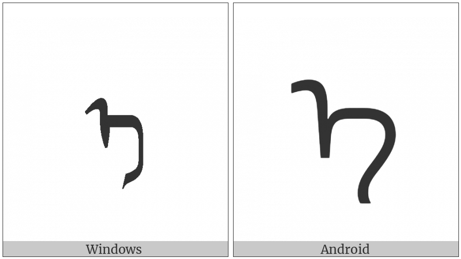 Mongolian Letter E on various operating systems