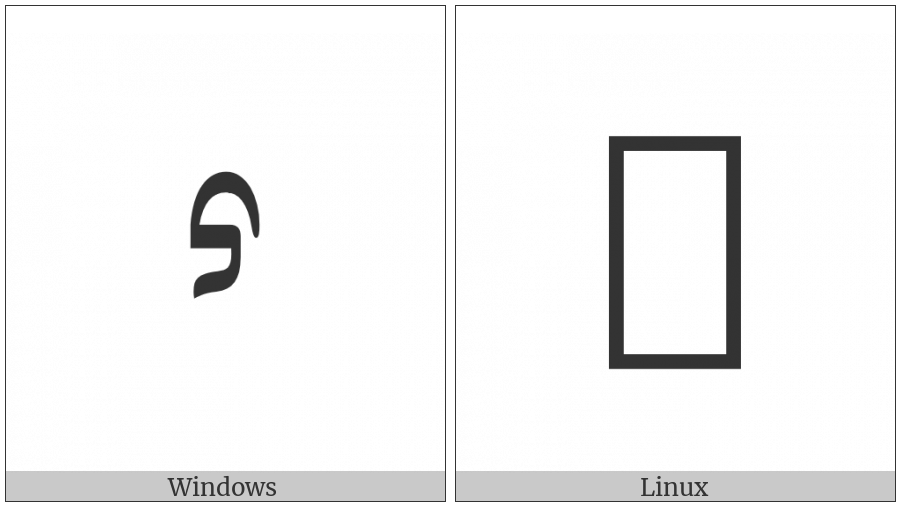 Mongolian Letter Pa on various operating systems