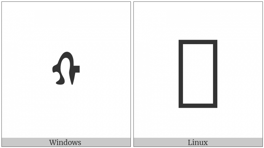 Mongolian Letter Qa on various operating systems