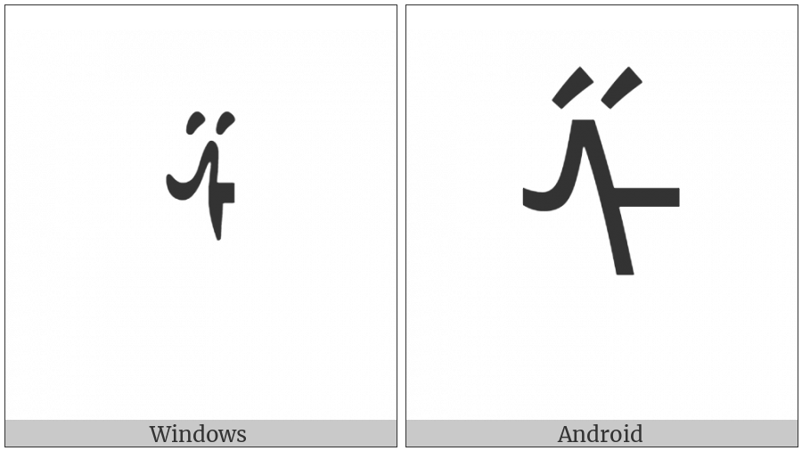 Mongolian Letter Sha on various operating systems