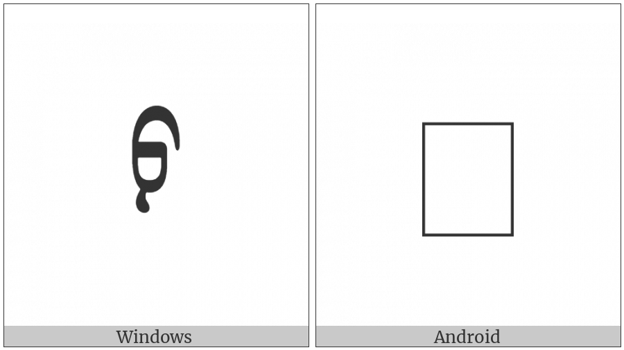 Mongolian Letter Fa on various operating systems