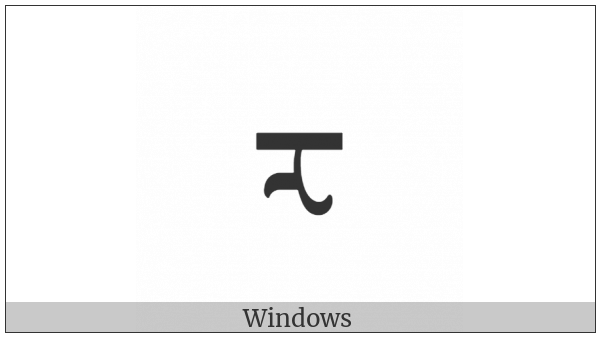 Mongolian Letter Za on various operating systems