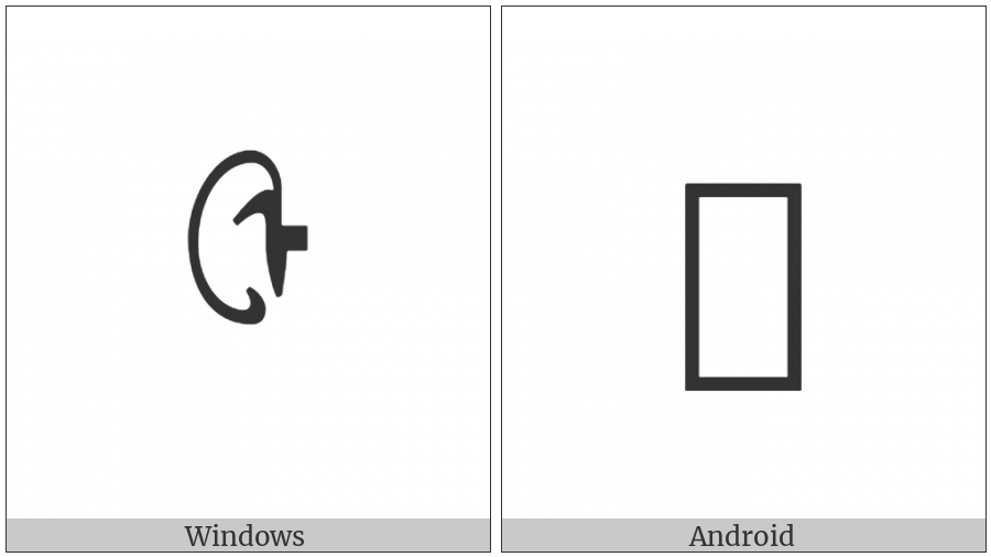 Mongolian Letter Zra on various operating systems