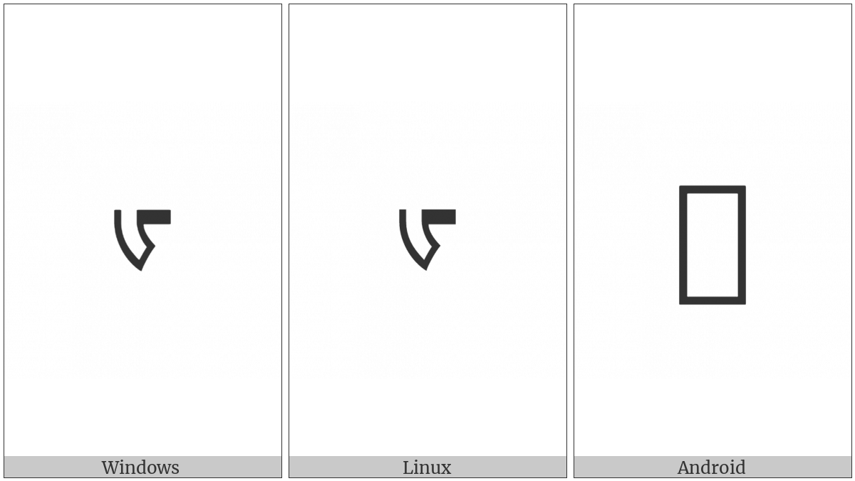Mongolian Letter Zhi on various operating systems