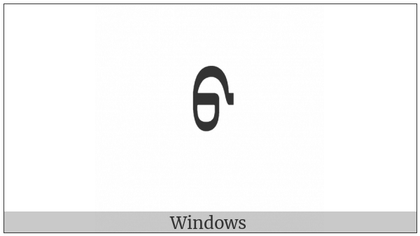 Mongolian Letter Todo Ba on various operating systems