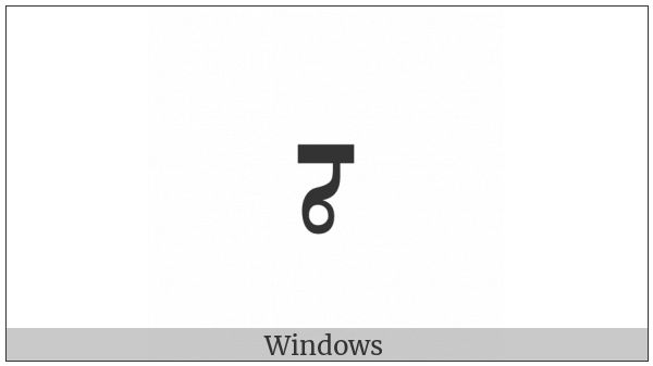 Mongolian Letter Todo Cha on various operating systems