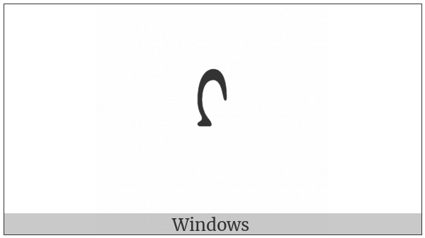 Mongolian Letter Todo Ka on various operating systems