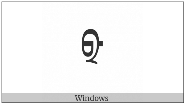 Mongolian Letter Todo Jia on various operating systems