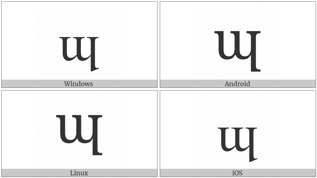 Latin Small Letter Turned M With Long Leg on various operating systems
