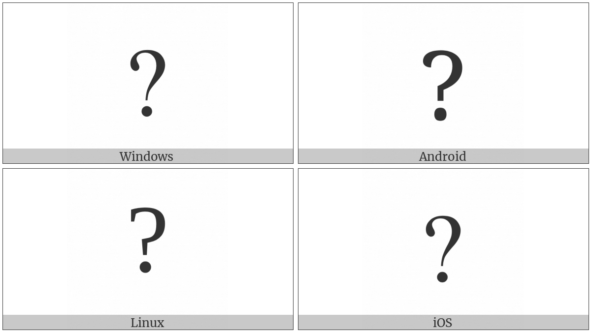 Question Mark on various operating systems