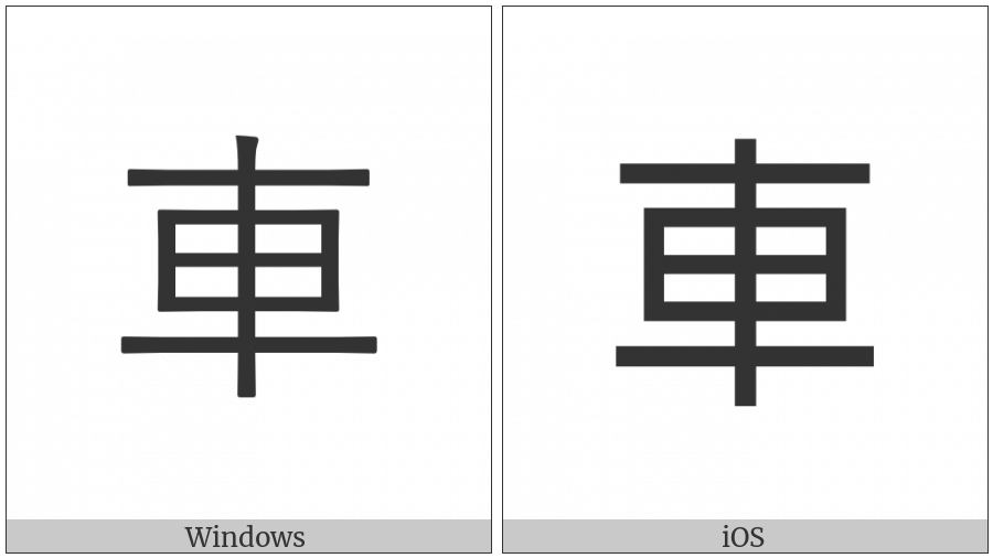 Cjk Compatibility Ideograph-F902 on various operating systems