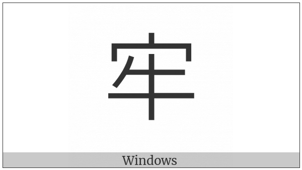 Cjk Compatibility Ideograph-F946 on various operating systems