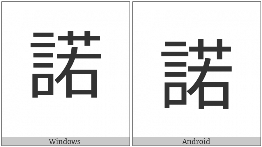 Cjk Compatibility Ideograph-F95D on various operating systems