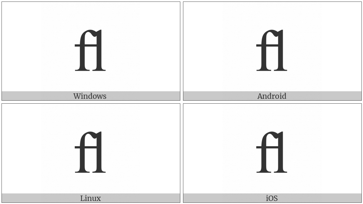 Latin Small Ligature Fl on various operating systems