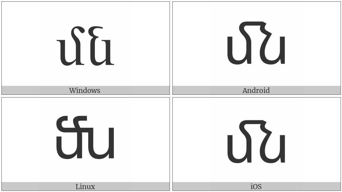Armenian Small Ligature Men Now on various operating systems