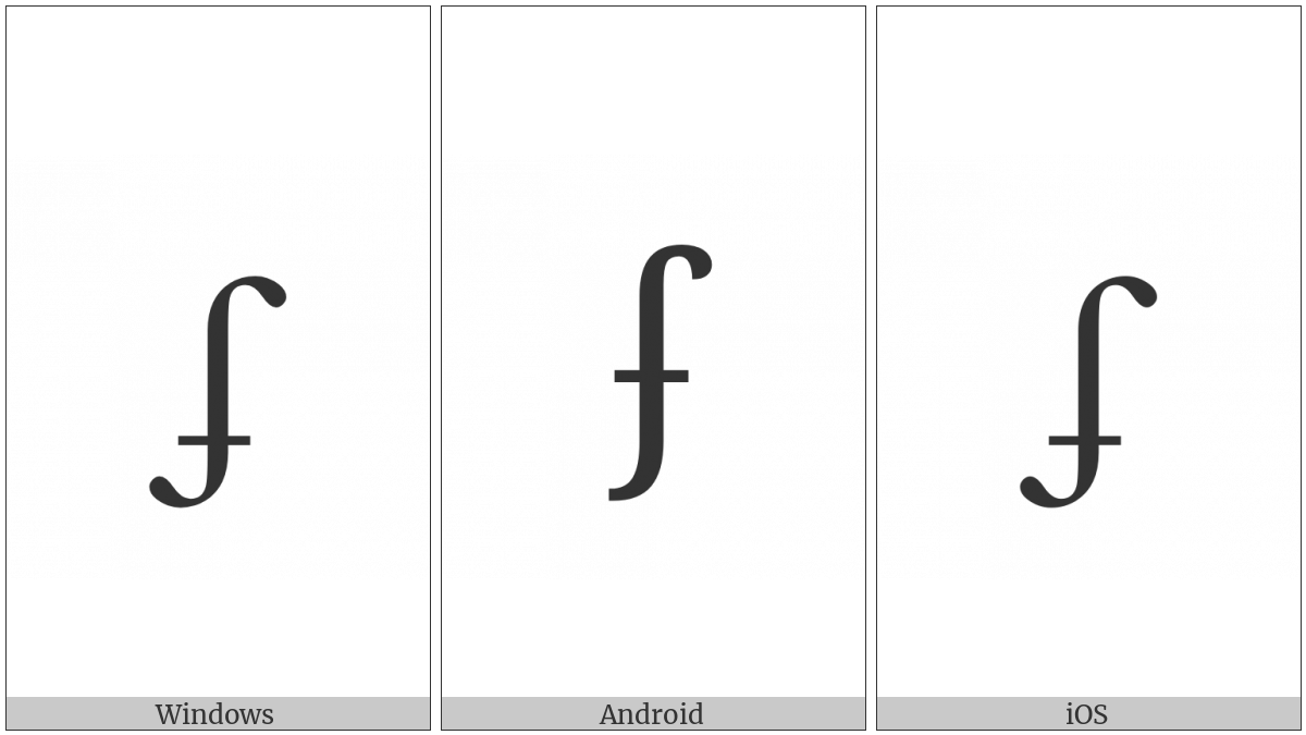 LATIN SMALL LETTER DOTLESS J WITH STROKE AND HOOK utf-8 character