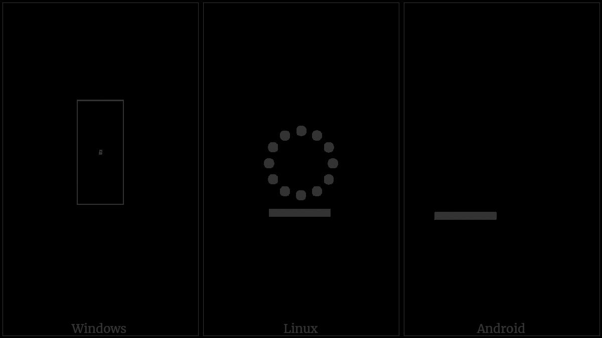 Limbu Sign Sa-I on various operating systems