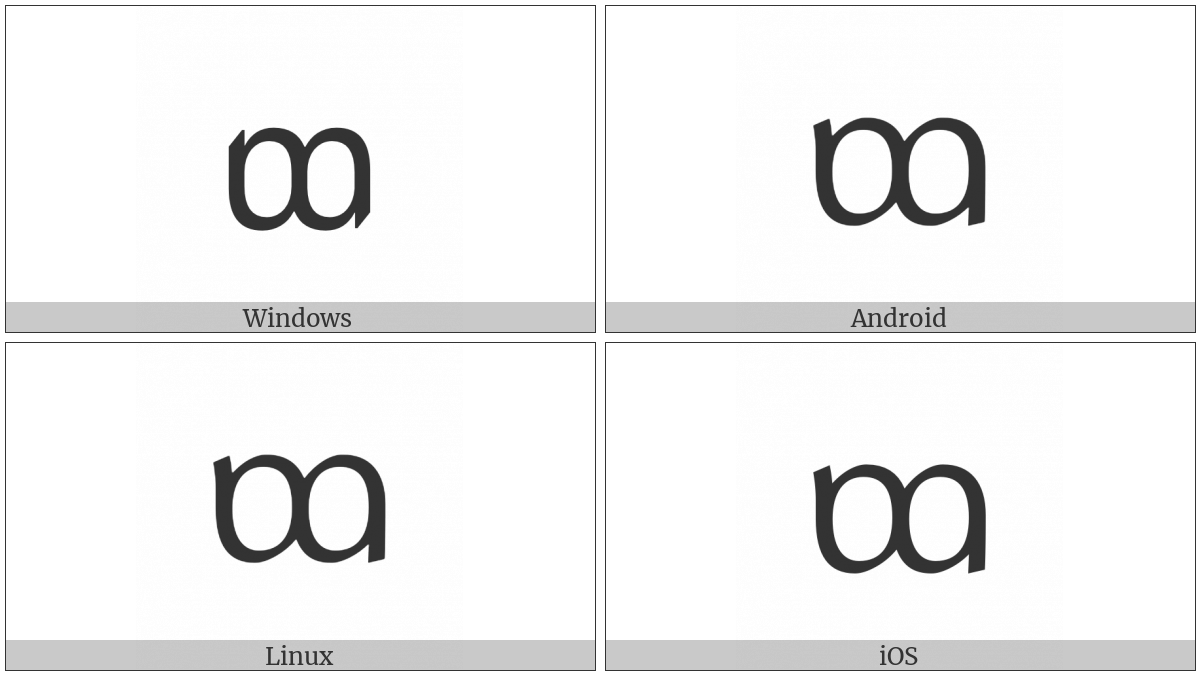 Tai Le Letter Tha on various operating systems