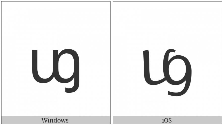 Tai Le Letter Fa on various operating systems