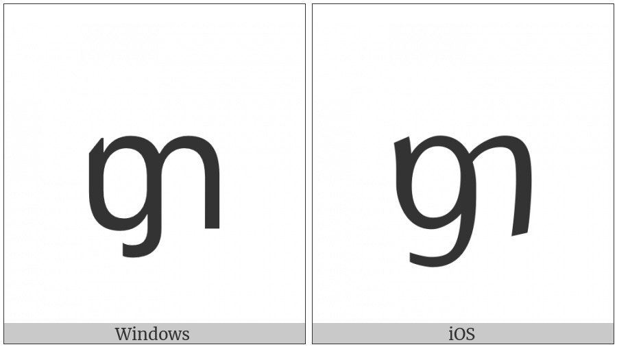 Tai Le Letter Ha on various operating systems