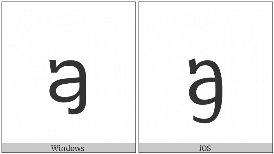 Tai Le Letter Kha on various operating systems
