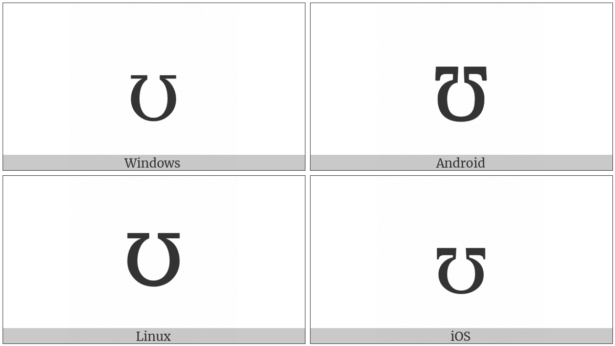 Latin Small Letter Upsilon on various operating systems