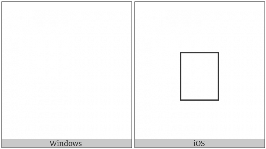 Variation Selector-13 on various operating systems