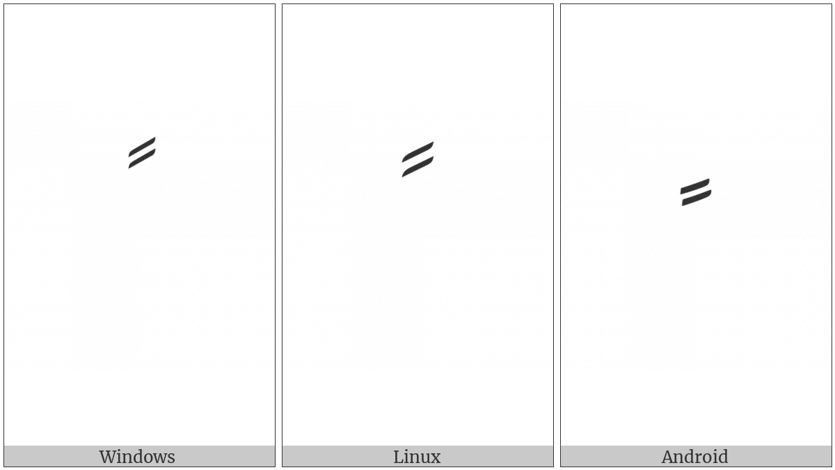 Arabic Fathatan Isolated Form on various operating systems