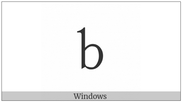 Fullwidth Latin Small Letter B on various operating systems