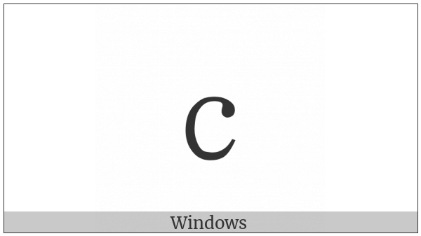 Fullwidth Latin Small Letter C on various operating systems