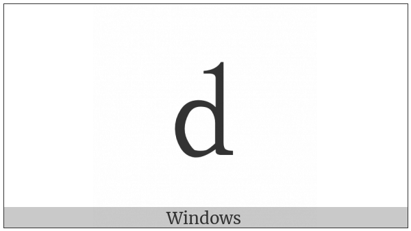 Fullwidth Latin Small Letter D on various operating systems