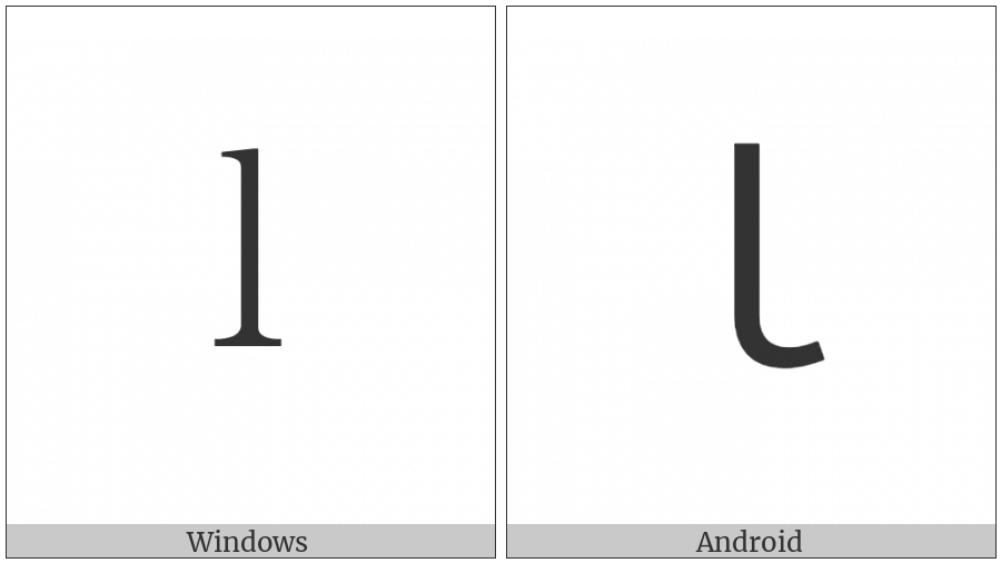 Fullwidth Latin Small Letter L on various operating systems